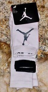 NIKE Jordan Jumpman 3 Pack White Sport Socks NEW Youth Sz  S 10c-3y  M 3y-5y
