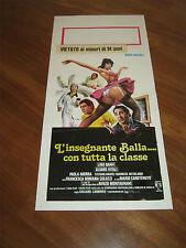LOCANDINA,L'INSEGNANTE BALLA CON TUTTA LA CLASSE,NADIA CASSINI,LINO BANFI 1979