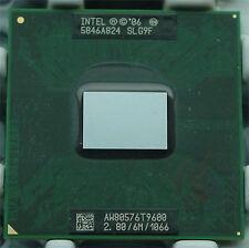 Intel Core 2 Duo T9600 2.80GHz 6M Cache 1066 MHz FSB Processor PM45 GM45 Chipset