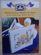 § DMC fascicule grilles point de croix 12956-22 JULIETTE AIME L'ETE