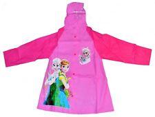 NEW KIDS RAINCOAT HOODIE COVER GIRLS DRESS JACKET DISNEY FROZEN OUTWEAR