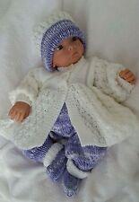 Baby Knitting Pattern DK #65 TO KNIT Baby Girls or Reborn Dolls Matinee Set