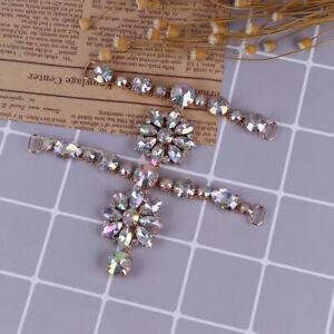 1Pc Women rhinestone crystal shoes clip buckle sandals charm accessoriesJ jbHCA
