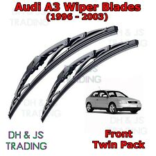 "(96-03) Audi A3 8L Front Wiper Blades Windscreen 21"" 19"" Hook Type Wipers"