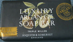 Asquith & Somerset Luxury Argan Oil Soap Bar Triple Milled 10.58 OZ