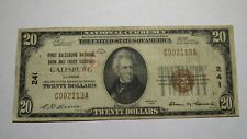 $20 1929 Galesburg Illinois IL National Currency Bank Note Bill Ch. #241 RARE!