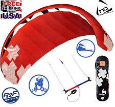 HQ4 Rush Pro 350 Trainer Kite 3-line kiteboarding Power Foil Landboard R2F