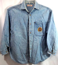 7a7ad36653f5 Vtg Light Wash Denim Shirt Guess Jeans: A Georges Marciano Design USA Sz S #
