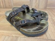 RARE🔥 Birkenstock Mayari Habana Brown Leather Sandals Buckle Slide Wide 36 L5