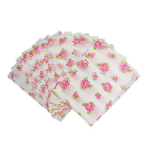 50 Flower Wax Tissue Paper Wedding Xmas Candy Sweet Wrap Greaseproof Paper
