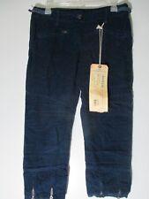 Da-Nang Surplus Indo chine Navy  blue corduroy capri pants  size Small New w tag