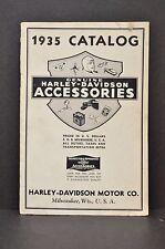 Vtg 1935 Harley Davidson Motorcycle Accessories Apparel Catalog Brochure Book