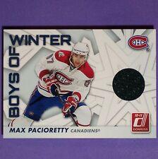 MAX PACIORETTY  Jersey  2010/11  Donruss Boys Of Winter  #45  Montreal Canadiens
