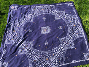 """Urban Outfitters Home Navy Tapestry 68""""X 76"""" Cotton"""