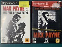 Max Payne 1 & 2 The Fall of Max Payne PlayStation 2 PS2 Game Lot Bundle TESTED