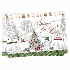 Michel Design Works Christmas Season's Greetings Cotton Placemats Set of 4
