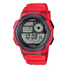 Casio AE-1000W-4A Red Unisex Digital Sports Watch with Retail Box Included