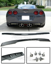 For 05-13 Corvette C6 ZR1 Style ABS Matte Black Rear Lip Spoiler with hardwares