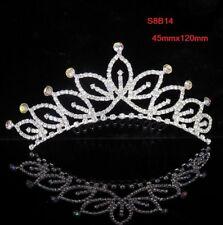 Rhinestone Tiara Crown Princess Flower Girl Bridal Birthday Wedding Comb S8B14