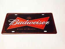 BIRRA Budweiser Usa Uomo Grotta auto bar pub taverna Wall Decor Vintage Sign latta