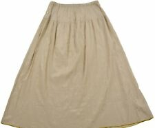 Gudrun Sjoden Womens A-line pleated skirt Elastic waist Button Closure Size S/M