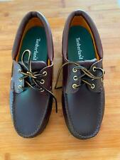 TIMBERLAND MEN'S LUG LEATHER BOAT SHOES