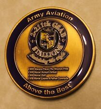 2nd Battalion 211th GSAB Stallions Army Aviation Army Challenge Coin