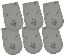 Pack 6 Scottish Thistle Chair Backs Covers Protectors Seat Antimacassar C806
