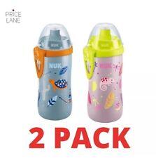 New Kids Toddler NUK Junior Water Bottle/Cup 300ml 2 PACK 36 months+ Boy Girl