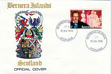 GB Locals - Bernera 3779 - 1978 COMPOSERS - STRAUSS 3p perf on First Day Cover