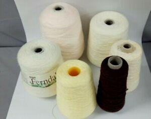 Knitting Machine Assorted Cones Yarn/Wool Bundle x 6 Cones