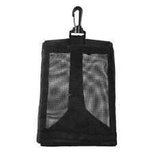 Scuba Diving Weight Pocket Equipment Holder Mesh Pouch Bag with Clip Hook