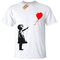 Niño Niña Banksy Niña con Globo Camiseta