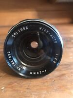 SOLIGOR  Lens Wide-Auto 1:2.8 F=28 mm No. 1687892 Bayonet Mount Used With Case