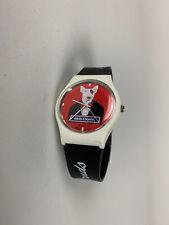 Spuds Mackenzie Bud Light Wrist Watch Vintage 1980s Red Face Tuxedo Black Band