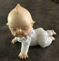 Altered Art Crying & Crawling Vintage Kewpie Doll UPCYCLED #165