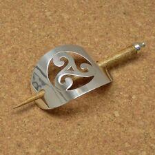 Haarspange Duttspange mit Stab Zopfspange Silber Keltisch - Tribal Spiral NEU