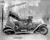 Photograph of a Washington DC Car Accident in 1917 8x10