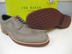 TED BAKER Fanngo Nubuck / Suede Shoes (GREY) Mens 11