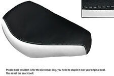 WHITE & BLACK CUSTOM FITS AJS REGAL RAPTOR DD 250 E FRONT LEATHER SEAT COVER