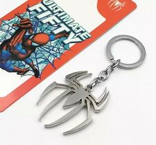 Spider-Man Spider Logo Super Hero Keychain Silver US Seller