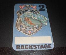 Vintage Beach Boys Back Stage Pass Surf Patrol Usa