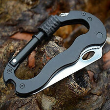 6in1 Multifunction Camping Survival Gear Knife Tactical Carabiner Tool(Pack of 5
