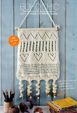KNITTING PATTERN HOME LACY WALL HANGING DECORATION PANELLED ARAN SKM AUA