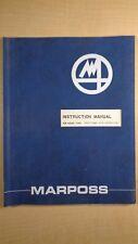 Marposs Positioner With Retractio 00006000 n Model 5080 Instruction Manual 8E B1