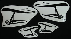 4 * HANG GLIDING PILOT FLYING HG DECALS STICKERS EMBLEM CAR AUTOMOBILE SIDE WING