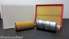 SERVICE KIT AUDI A4 (B6) 1.9 TDI AVB AVF AWX BKE OIL AIR FUEL CABIN FILTER 00-04