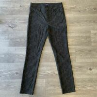 NYDJ Leggings Size 4 Textured Lace Floral Lift Tuck Technology Skinny Pants