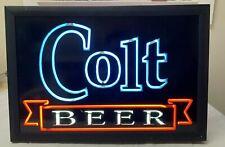 Vintage 1993 Colt Beer Electriglas Neon Bar Sign Light Up Colt 45 Malt Liquor