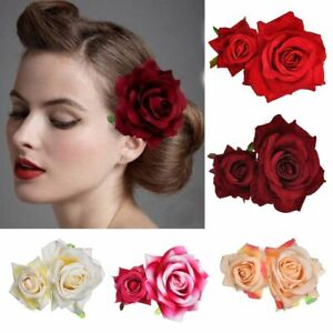 Hair Jewelry Bridal Flower Hair Clip Wedding Accessories Double Rose Hairpin
